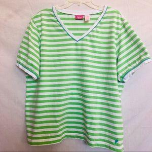 BOGO Sale Ladies Striped Blouse 3X With Free Pants